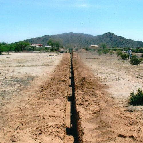 Fence footing our trenching company completed in Casa Grande, AZ